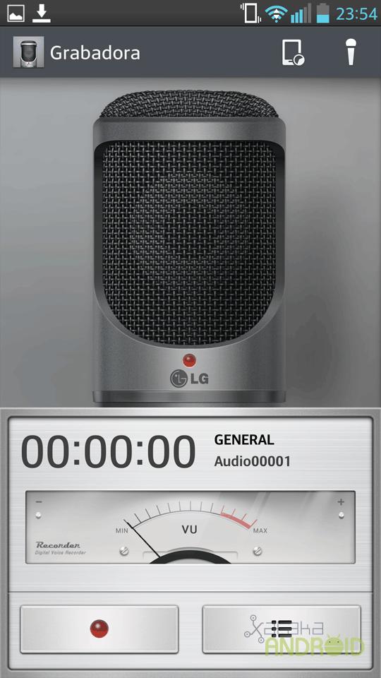 LG Optimus G Pro, capturas de pantalla