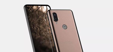 El Motorola P40 aparece en renders y anticipa un Moto One 2 con agujero en la pantalla y doble cámara trasera