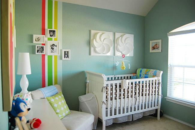 Un dormitorio de bebé para amantes del videojuego