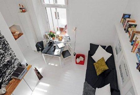 Puertas abiertas: un apartamento de 17 metros cuadrados muy escandinavo
