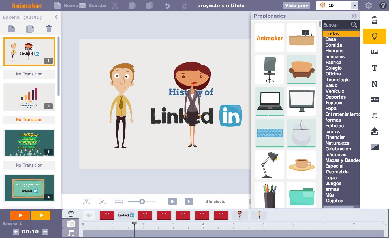 doce y servicios online para crear animaciones sin avanzados