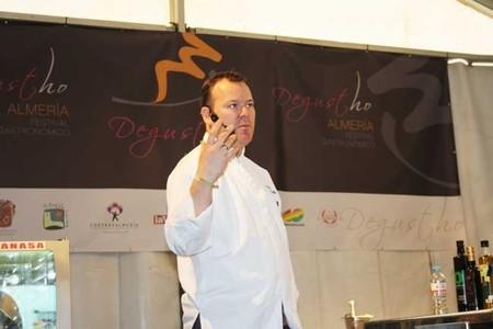 Showcooking y pequeña entrevista con Pablo Gonzalez en Degustho Almería