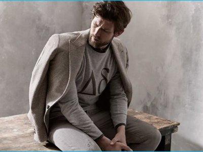 El gris es chic en Brunello Cucinelli