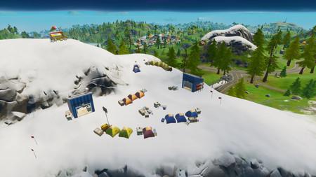 Desafío Fortnite: visita campamentos base de montaña