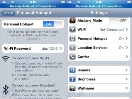 """La función """"hotspot"""" podría estar disponible para todos los iPhones con iOS 4.3"""