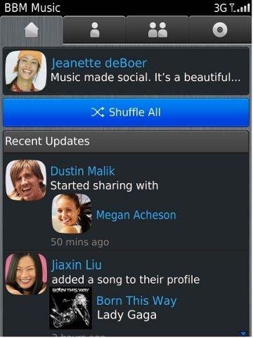 BlackBerry Messenger Music se pone en marcha de forma oficial