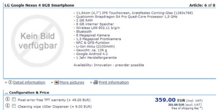 Nexus 4 8 GB