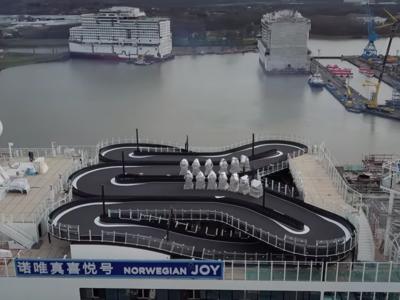 El mar y los Go Kart jamás se habían llevado tan bien, o al menos eso piensan en este crucero