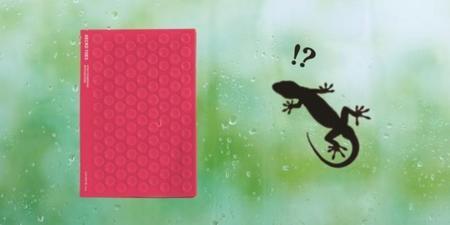 Cuadernos con ventosas y gruesas tapas de silicona