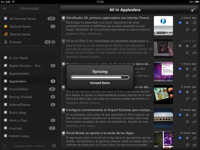 Foto de Lectores RSS para el iPad (11/20)