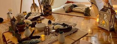 Planes diferentes: si no puedes salir a cenar por San Valentín, prepara una noche llena de magia con un picnic en el salón