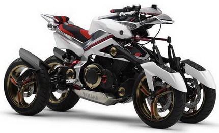 Yamaha Tesseract, una moto de cuatro ruedas