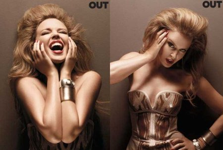Kylie Minogue, con corpiño y muy rockera para 'Out Magazine'