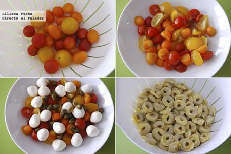 Ensalada de Tortellini. Pasos