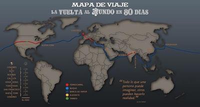 Dando la vuelta al mundo en 80 días, estilo Julio Verne, gracias a Google Maps