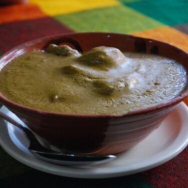 Guiso de pepita con tasajo. Receta de comida mexicana tradicional de Chiapas