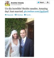 E Iniesta se casó y todos fueron felices y comieron Kalise o algo así
