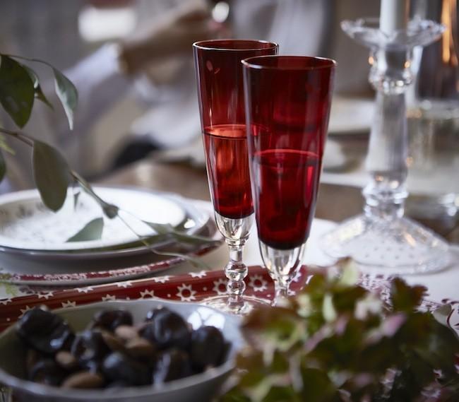 Ikea Copa Cava Vidrio Rojo Vinter Catalogo Navidad 2015 Ph130573