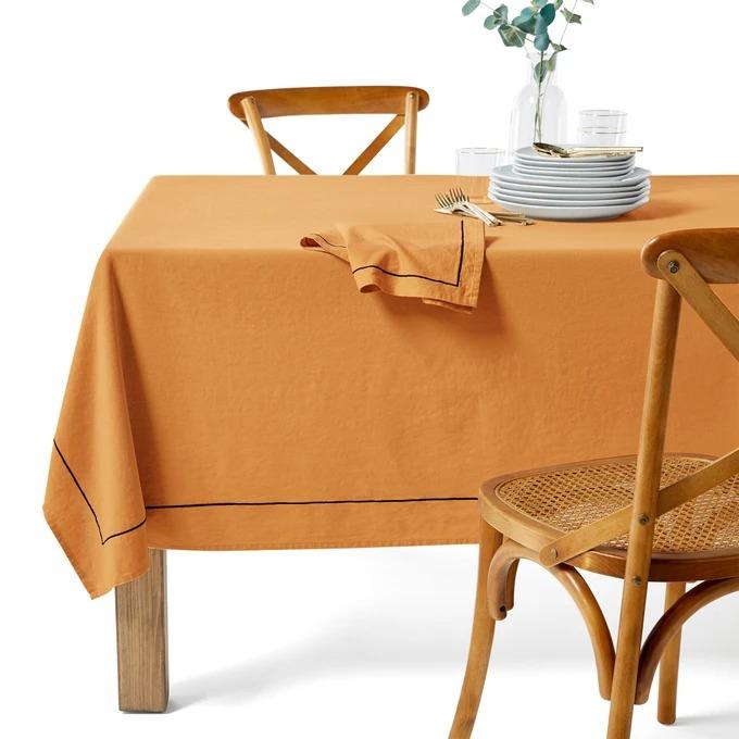 LA REDOUTE INTERIEURS Mantel de algodón lino, Métis Bourdon