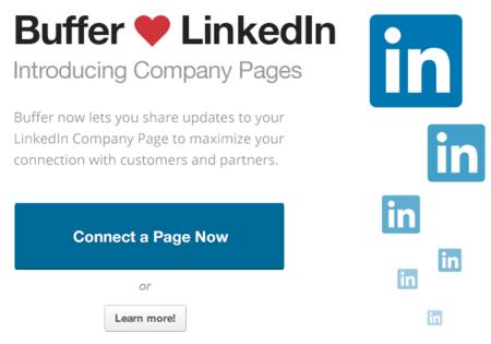 Buffer añade soporte para las páginas de LinkedIn