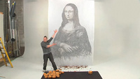 Burguer Grease Art: pintando la Gioconda con hamburguesas