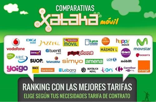 Ranking de las mejores tarifas móviles en contrato