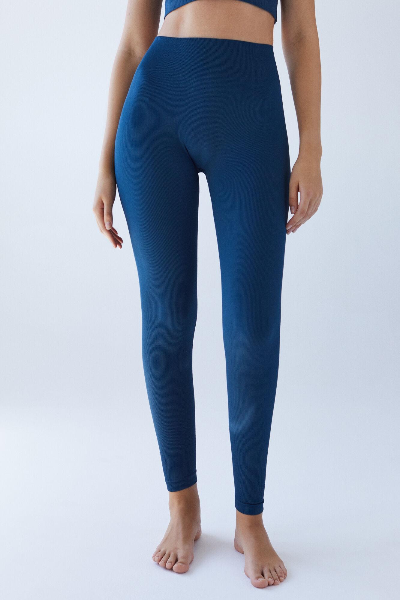 Leggings largos azules