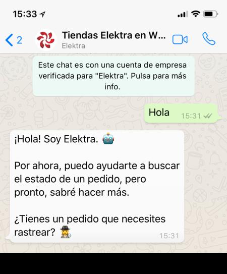 Elektra Whatsapp Mexico