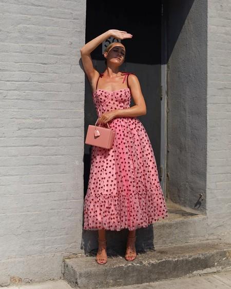 Combinar Vestido Rosa Zapato Bolso 08
