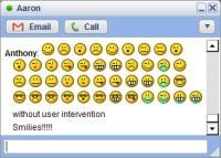 Google talk con emoticonos mediante un tema