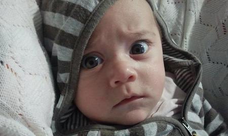 La foto de tu bebé: Daniel frunciendo el ceño