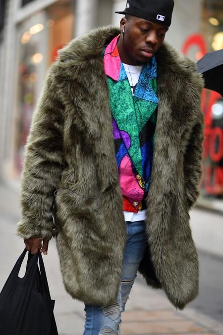 El Mejor Street Style De La Semana Trendencias Hombre Faux Fur Men Fall Winter 2019 05