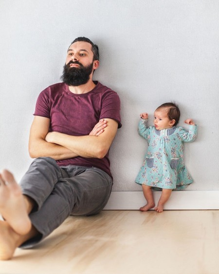 Dad Baby Girl Playful Photography Ania Waluda Michal Zawer 15