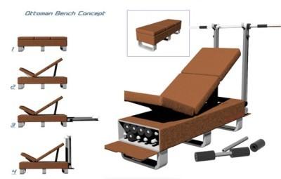Un mueble para ejercitarte cómodamente dentro de tu casa