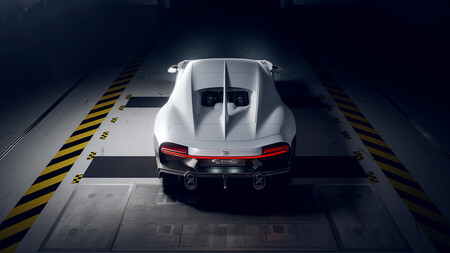 Bugatti Chiron Super Sport, en el túnel de viento.