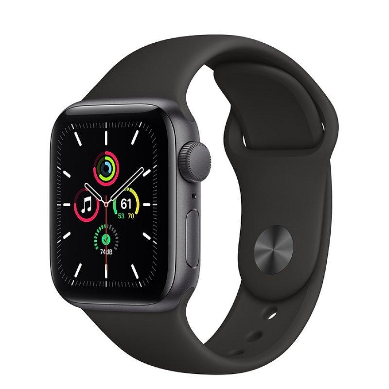 Apple Watch SE GPS 40mm Aluminio en Gris Espacial con Correa Deportiva Negra