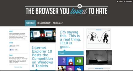 La nueva campaña de publicidad de Internet Explorer. La imagen de la semana