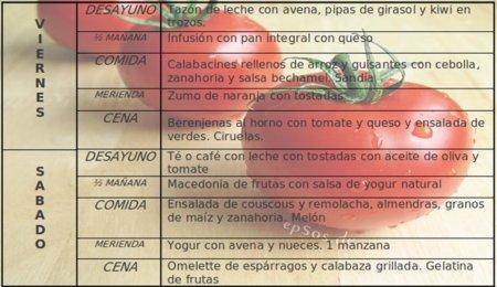 menu lacto-ovo-vegetariano para dos dias