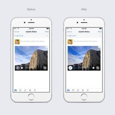 Facebook para iPhone ahora mejora nuestras fotos de manera automática