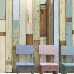 Foto 3 de 3 de la galería papel-pintado-para-imitar-revestimientos-de-madera en Decoesfera