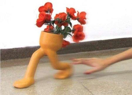 El jarrón corredor se marcha con tus flores