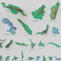 Las cien islas más grandes del planeta, ordenadas de mayor o menor en este precioso gráfico
