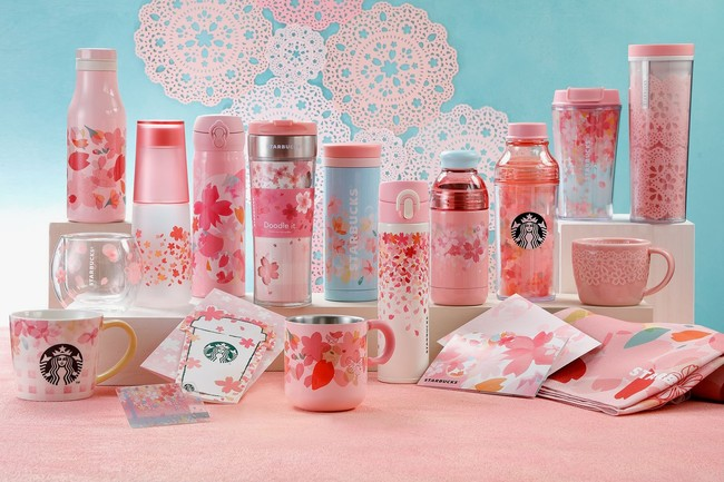Starbucks Japan Sakura Strawberry Pink Milk Latte Tea Tumblers Mugs 2