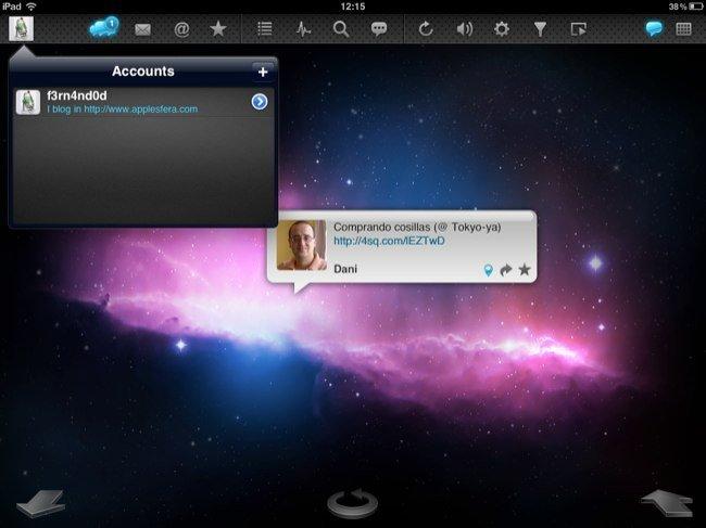 Configuración de cuentas en TweetyPop
