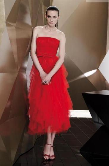 Pepe Botella, el vestido de cocktail en rojo