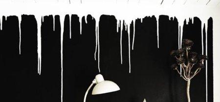 La pared con chorretones, otra forma de pintar una estancia de tu casa