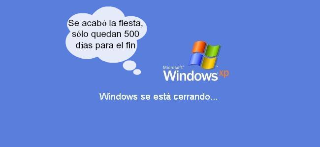 Sólo quedan 500 días para el fin del soporte de Windows XP