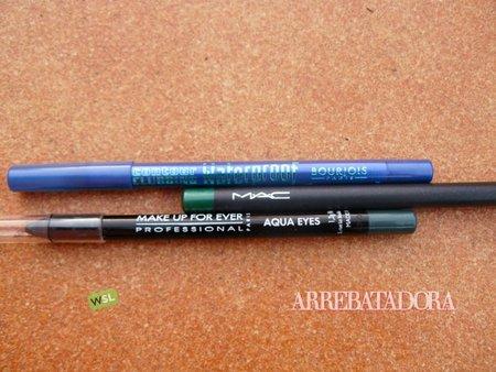 Prueba de lápices de ojos: MAC, Make Up Forever y Bourjois