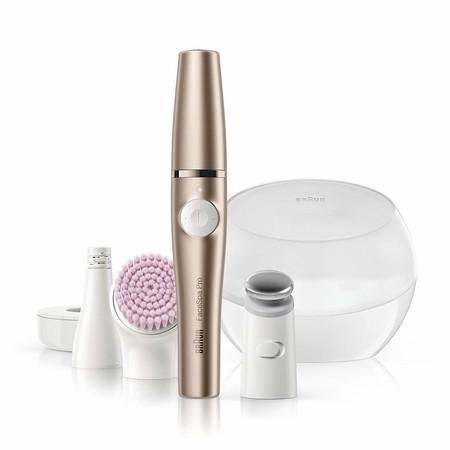 El sistema 3 en 1 con depiladora facial, cepillo limpiador y  tonificador FaceSpa Pro 921 está rebajado a 119,99 euros en Amazon