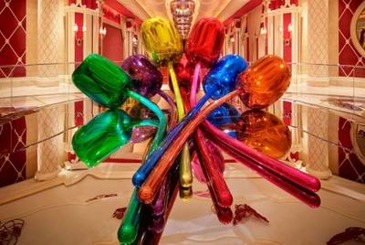Los tulipanes de Jeff Koons, en el Guggenheim de Bilbao... y en los casinos de Las Vegas